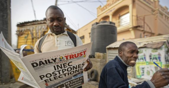 Nigerians wake to find a delayed election, with some angry