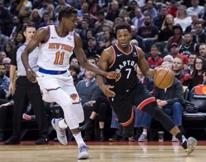N.B.A. Roundup: Raptors Beat Knicks to Improve to League-Best 12-1