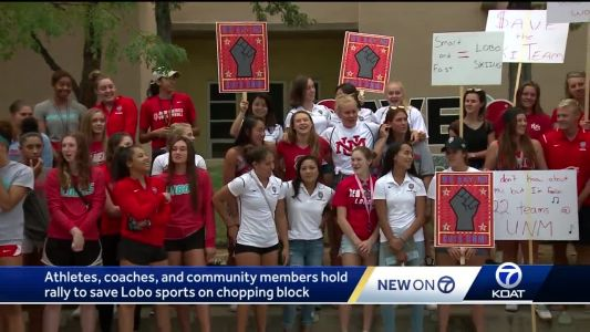 Athletes, coaches rally to save UNM sports