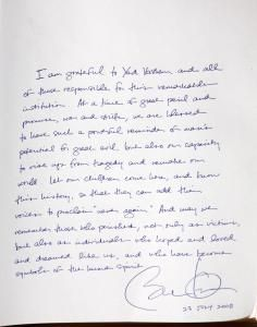 Read What Trump and Other Presidents Wrote in the Guest Book at Yad Vashem
