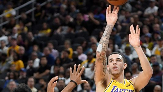 Lakers' Lonzo Ball covers Big Baller Brand tattoo to avoid fine, report says