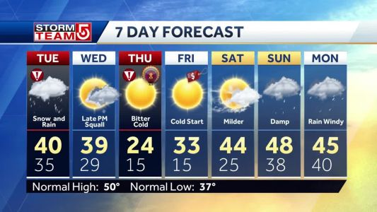 Video: As storm wraps, cold air moves in