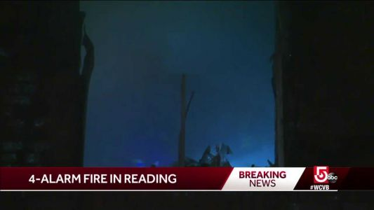 2 injured in apartment building fire