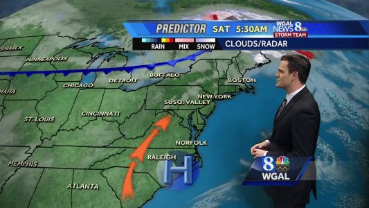 Temperatures making a run into the 50s this weekend