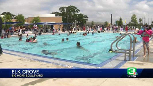 Elk Grove Aquatics Center officially opens for Memorial Day weekend