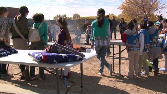 Girl Scouts helping retire old and damaged flags in Albuquerque