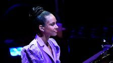 Alicia Keys Performs Song Kobe Bryant Learned To Play For Vanessa Bryant At Memorial
