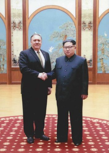 The White House Just Released Photos of New Secretary of State Mike Pompeo's Meeting With Kim Jong Un