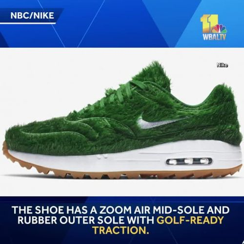 New golf shoe made to look like. grass
