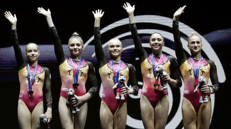 Russian synchronized swimmers, gymnasts win more golds at European Championships