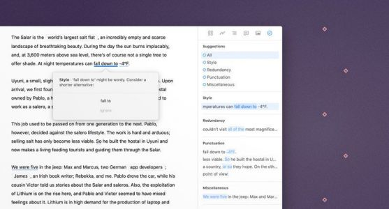 Ulysses 20 for Mac keeps your spelling and grammar in tip-top shape