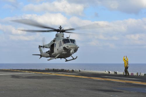 US sailor in critical condition after being hit by helicopter blade