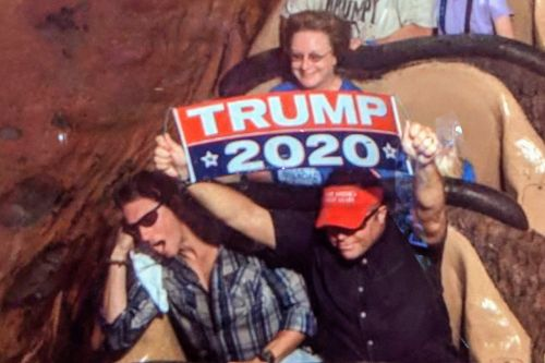 Vet banned from Disney World after holding 'Trump 2020' sign