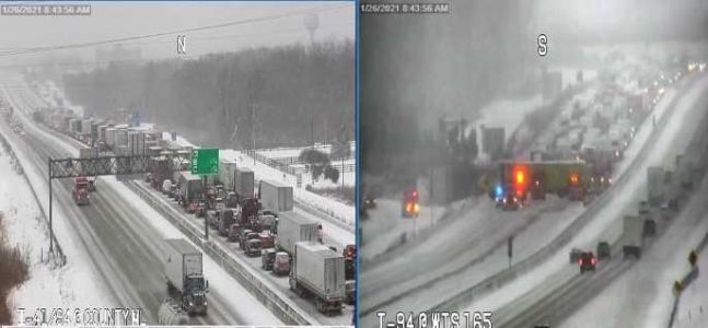 I-94 north closed just north of Illinois state line