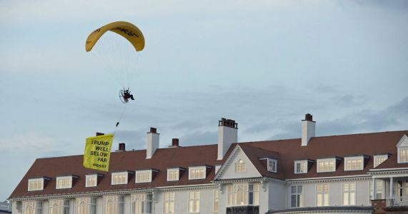 UK police search for paraglider who flew over Trump resort
