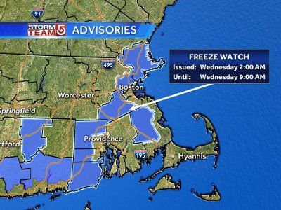 Coming chill brings freeze watch, chances for snow in New England this week