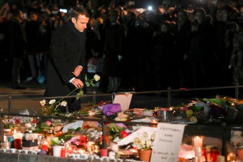 Macron visits Strasbourg day after cops fatally shoot terrorist