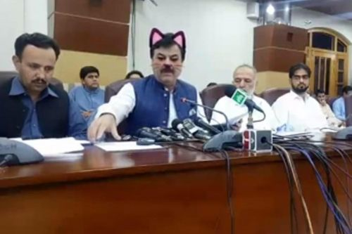 Pakistani politicians get cat ears, whiskers in hilarious Facebook fail