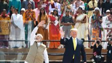 India Welcomes Trump With Pageantry, Praise And Protests