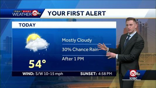 First Alert: Mostly cloudy, slight chance for rain this afternoon
