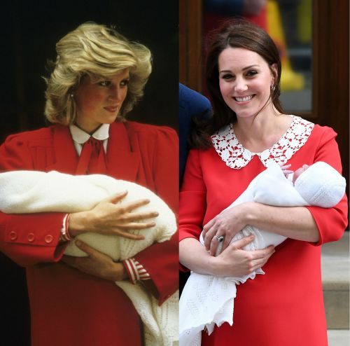 Kate Middleton's dress at the new royal baby's first public appearance is a sweet nod to Princess Diana