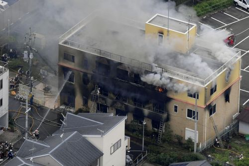12 feared dead, dozens more injured in a suspected arson attack at a Japanese animation studio