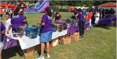 NFL player and former Clemson Tiger holds annual school supply give-away