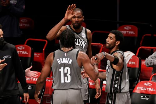 James Harden, Kyrie Irving take over in blowout Nets win