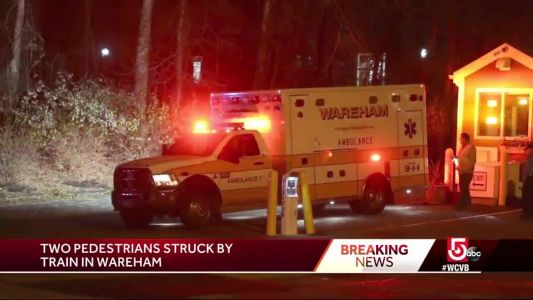 Two pedestrians struck, killed by train in Wareham