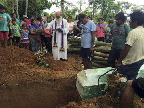 Priest tends to miners, sex workers deep in Peru's Amazon