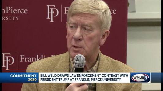 Weld contrasts his experience in law enforcement with president's legal troubles