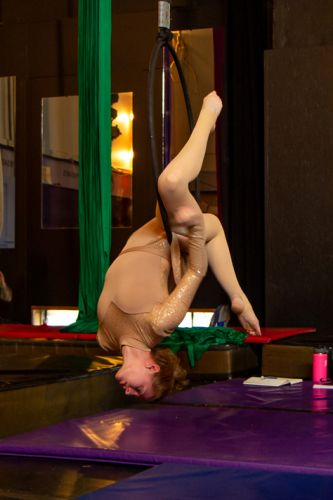 Circus-arts students take to the air in an atmosphere of support and camaraderie