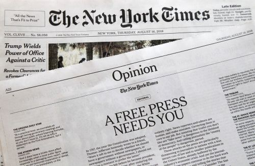 Hundreds of US newspapers slam attacks on press: We're not enemies of the people