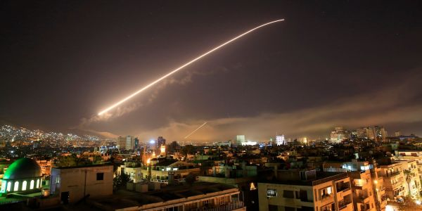 Israeli military tweets that a missile attack on Iranian elite forces in Syria is underway