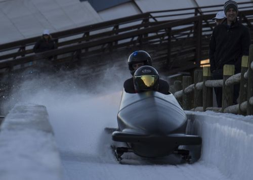 Grit and determination: AFSOC Airmen slide with Team USA bobsled
