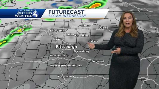 Scattered showers; warm-up on the way