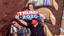 Trump Supporter Banned From Disney World for Waving 'Trump 2020' Sign on Splash Mountain