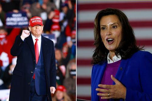 Trump blasts Michigan governor Whitmer; crowd chants 'lock her up'