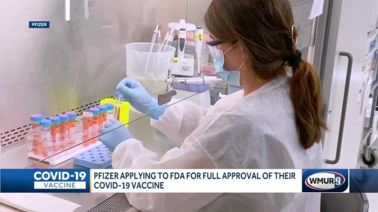 Pfizer 1st company to apply for full FDA approval of COVID-19 vaccine