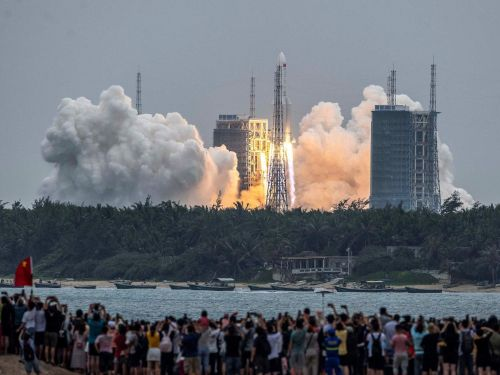 A European astronaut says the risk of the uncontrolled Chinese rocket hitting a home is like getting hit by lightning - and if it did, people would only get a few hours' warning