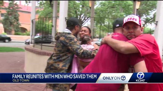 'You're heroes in our eyes:' family says to men who saved their infant and child