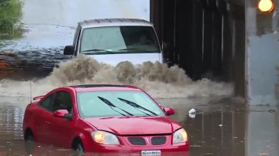High water strands drivers Wednesday morning near 12th, Elmwood