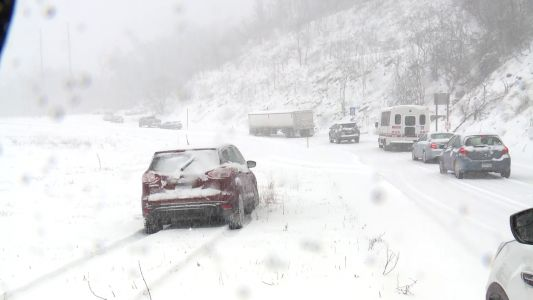 Bogged-down vehicles block Columbia Exit on Route 30