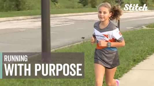 9-year-old running half marathon to raise money for charity has no signs of slowing down