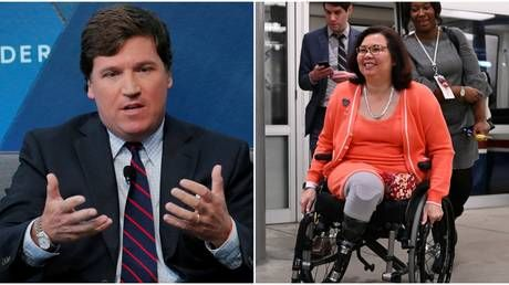 'Shameful': Tucker Carlson under fire for claiming senator who lost legs in Iraq 'hates America'