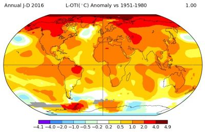 Hottest year ever and Arctic meltdown put the world on the brink of catastrophe