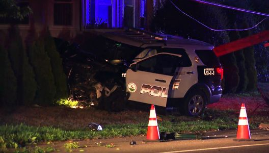 Police cruiser, vehicle involved in serious crash in Somerset