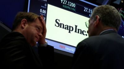 Snap Shares Tumble As Short Sellers Move In