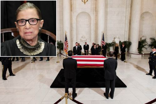 Justice Ginsburg to lie in repose at Supreme Court on Wednesday, Thursday