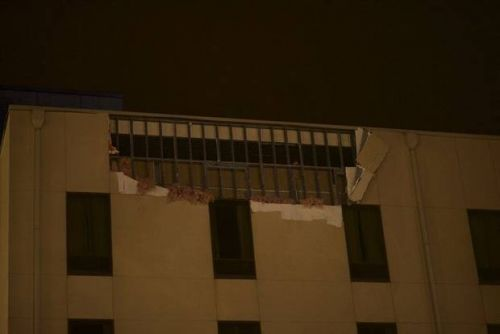 Storms damage casino, down power lines